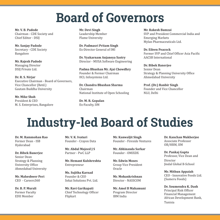 Board of Governors & Board of Studies